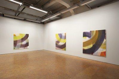 Susanne Ackermann – Lux Ausstellung in der Städtischen Galerie Karlsruhe je 180 x 160 cm , Acryl / Nessel , 2011; © Foto: Heinz Pelz; alle Arbeiten courtesy Galerie Heinz-Martin Weigand